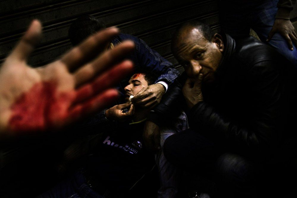 Wounded in Tahrir Square