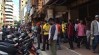 Kawasan yang dipadati orang Rohingya di Kuala Lumpur