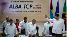 Los presidentes del ALBA en la cumbre extraordinaria sobre el ébola