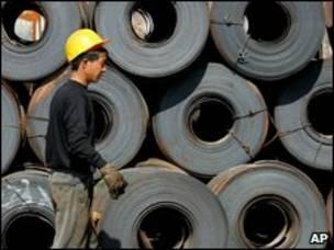 Çinli bir çelik işçisi