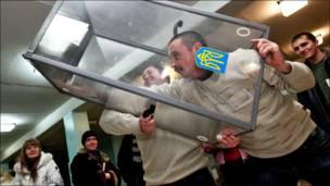 Подсчет голосов на президентских выборах Украины