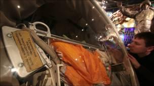 Спасательная капсула в музее космонавтики. Фото Игоря Подгорного