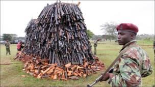 Уничтожение оружия в Кении