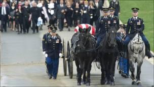 Funeral militar en Arlington, Virginia, Estados Unidos