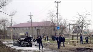 Место взрывов в Кизляре