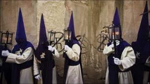 Procesión de Semana Santa en Zamora, España