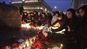 Митинг памяти на Лубянской площади