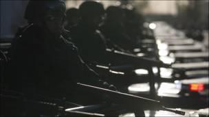 Soldados en Ciudad Juárez, México