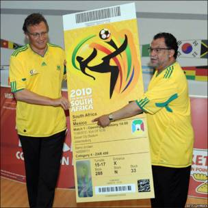 Boleto para primer juego del Mundial de Futbol 2010