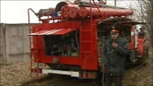 Fotos tomadas de la televisión rusa.