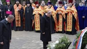 Primer ministro polaco Donald Tusk junto a Vladimir Putin