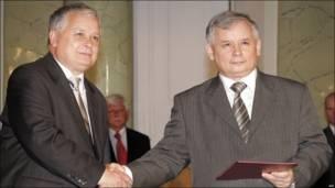 Lech y Jaroslaw Kaczynski