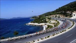 Pelotón en el Tour de Turquía