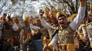 Graduación de la policía india