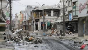 Fango y escombros en uno de los puntos de la ciudad