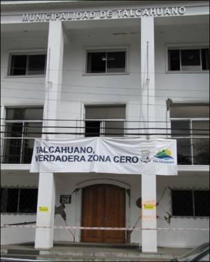 Edificio donde funcionaba la municipalidad de Talcahuano