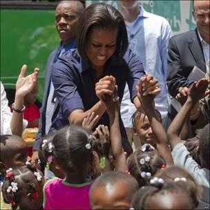 Michelle Obama en Haití