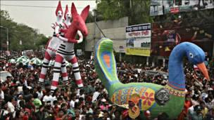 Celebrando el Año nuevo en Dhaka