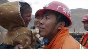 Rescatistas en China
