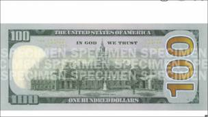 Nuevo billete de US$100 revelado por el Tesoro de EE.UU.