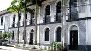 Casa de la era del caucho en Iquitos