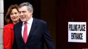 El primer ministro y líder laborista, Gordon Brown.