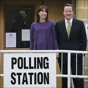 El candidato conservador David Cameron.