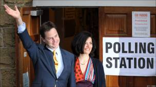 El líder del partido liberal, Nick Clegg.