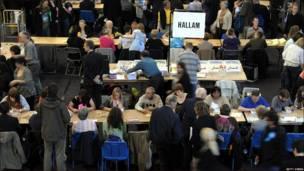 Recuento de votos en Sheffield