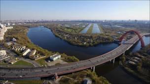 Вид на Москву со строящегося рядом с Серебряным бором жилого комплекса. Фотография Docent