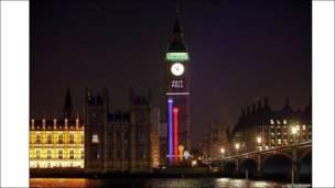 Результаты выборов в Великобритании на Биг Бене