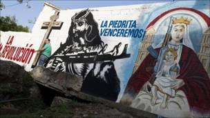 Pintadas revolucionarias en Venezuela.