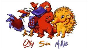Olly, Sid y Millie, mascotas de Sydney 2000. Copyright: Comité Olímpico Internacional.