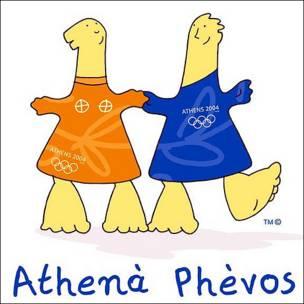 Athenà y Phèvos, mascotas de Atenas 2004. Copyright: Comité Olímpico Internacional.