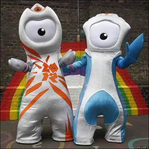 Wenlock y Mandeville son las mascotas de Londres 2012.