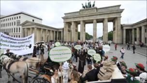 Участники акции в Берлине