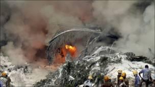 Accidente aéreo en India