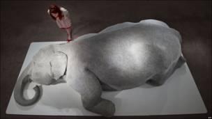 Escultura de un elefante
