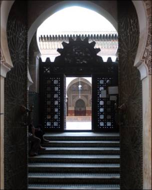 Mashrabivva en una mezquita.