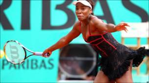 Venus Williams en el torneo Roland Garros en París