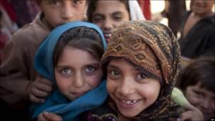 Niños paquistaníes