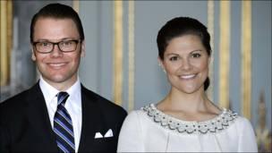 La princesa Victoria de Suecia y su prometido, Daniel Westling.