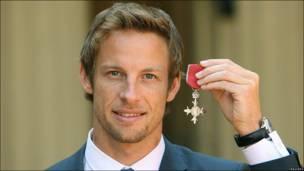 El conductor de Fórmula 1 Jenson Button.