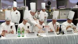 """Jurado del campeonato culinario Bocuse d""""Or"""