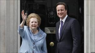 Margaret Tatcher y David Cameron