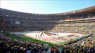 Panoramica del estadio Soccer City.