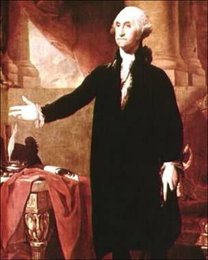 Pintura de George Washington.