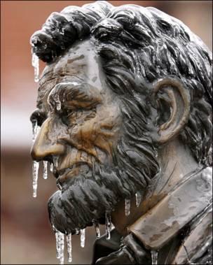 Estatua de Abraham Lincoln.