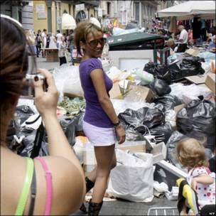 Туристы в Неаполе