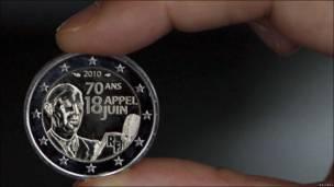Nueva moneda francesa de dos euros